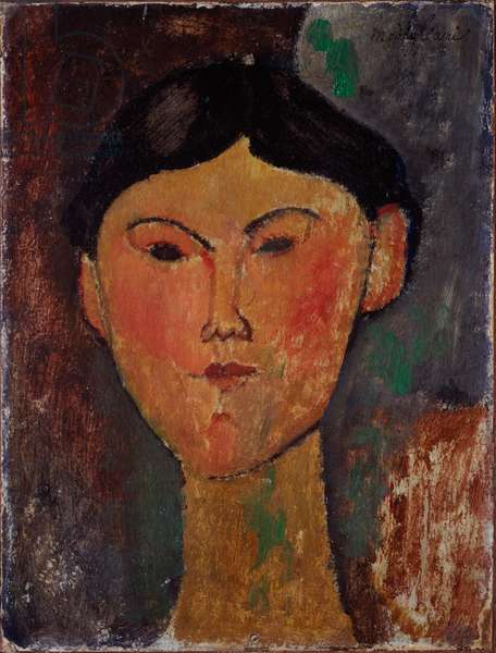 Portrait of Beatrice Hastings (1879-1943). Painting by Amedeo Modigliani (1884-1920) 1915. Milan, Museo del Novecento