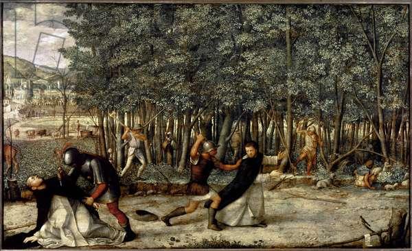 Death of Saint Peter Martyr (tempera on panel, circa 1509)