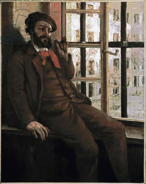 Self-portrait in the prison of Sainte-Pelagie The artist was imprisoned for participating in the commune - Painting by Gustave Courbet (1819-1877) 1871-1872 Dim 92x72,5 cm Ornans, Musee Gustave Courbet