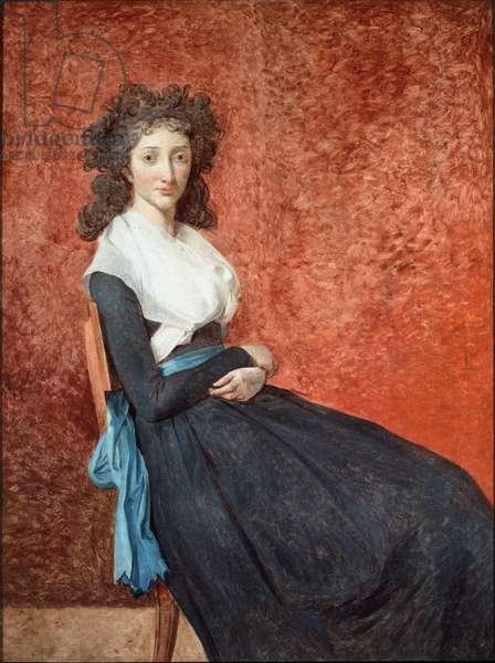 Portrait of Madame Charles Louis Trudaine (1769-1802) Painting by Jacques Louis David (1748-1825) Sun. 1,30 x 0,98 m Paris, Musee du Louvre