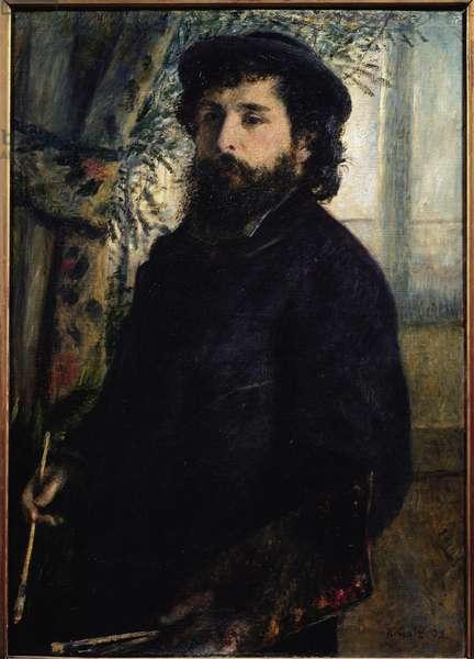 Portrait of Claude Monet  (oil on canvas, 1875)