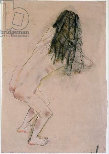 Drawing by Oskar Kokoschka (1886-1980), New York, Museum of Modern Art