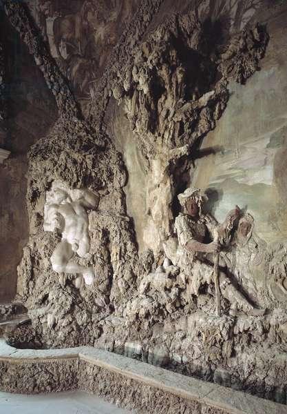 Interior of the cave created by Bernardo Buontalenti (1531-1608) (Grotta del Buontalenti) (1583-1588) Detail Palazzo Pitti, Giardino di Boboli, Florence, Italy