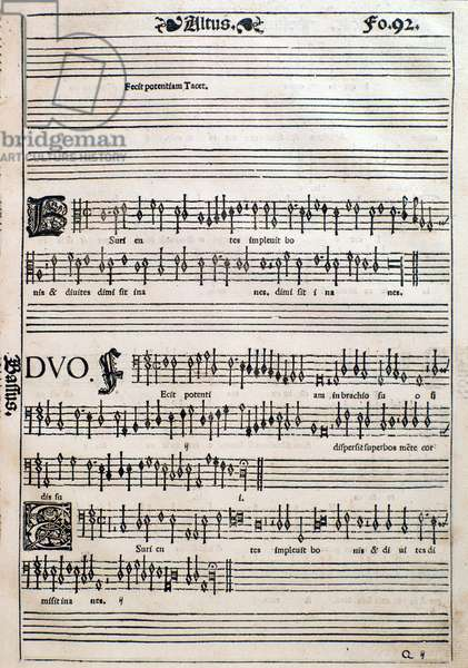 Page from  Liber octo missarum (1541)