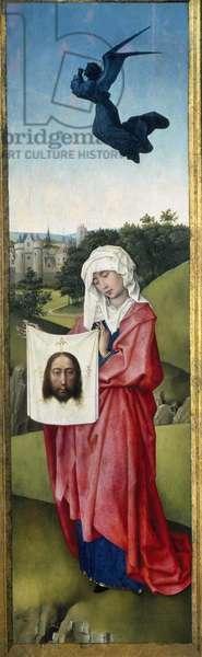 Saint Veronica, Crucifixion Triptych, c.1445 (oil on oak panel)