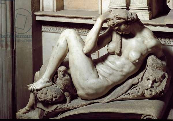 Allegory of Night, Tomb of Giuliano de Medici, The Medici Chapel, San Lorenzo, 1531 (marble)