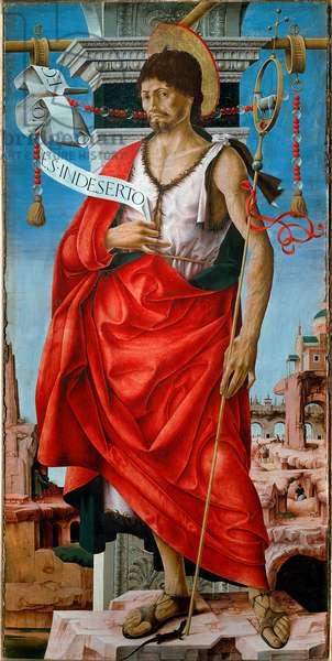 Saint John the Baptist Painting on wood by Francesco del Cossa (around 1436-around 1478) 15th century Dim. 112x55 cm Milan, Pinacoteca di Brera