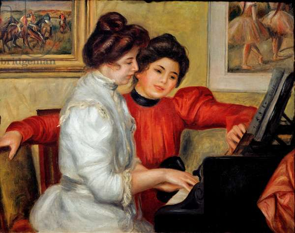 Yvonne and Christine Lerolle on piano, 1898 (oil on canvas)