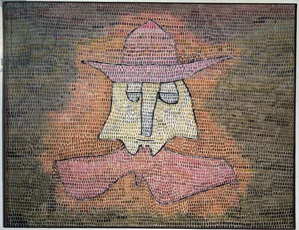 Pastor Kol (Portrait of reverend Kol) Painting by Paul Klee (1879-1940) 1932 Private Collection