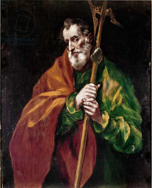 Apostolate of the Cathedral of Toledo: The apostle of Saint Jude Thadee. Painting by Domenikos Theotokopoulos dit El Greco (1540-1614), 1602-1605. Oil on canvas. Dim: 100x76 cm. Cathedral of Toledo in Spain.