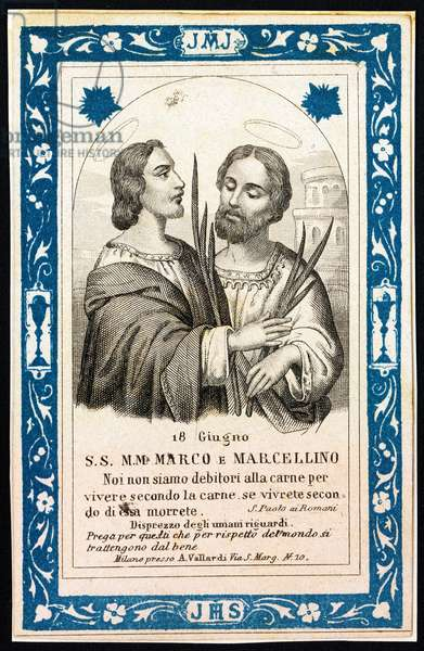 Representation of St. Mark and St. Marcellianus, early 20th century (print)