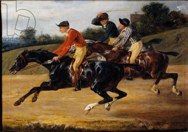 Horse racing: Horse riding (Painting, 1820-1824)