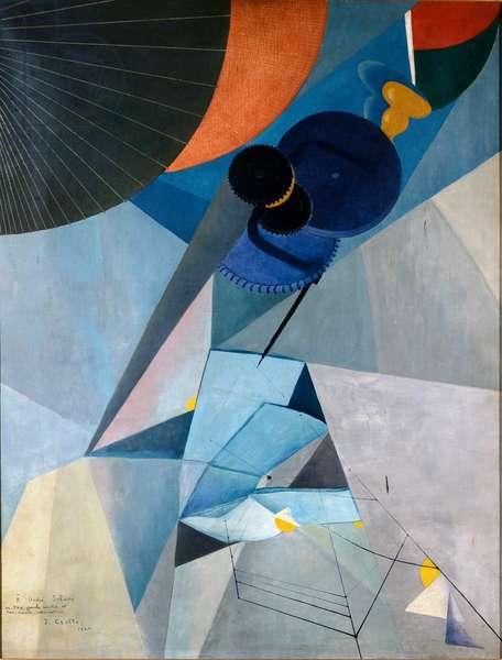 Mechanical Twilight, 1920 (Painting)