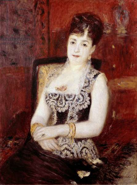 Portrait of the Countess of Pourtales. Painting by Pierre Auguste Renoir (Pierre-Auguste, 1841-1919), 1877 Oil on canvas. Dim: 95x72cm. Sao Paulo, Museum of Art