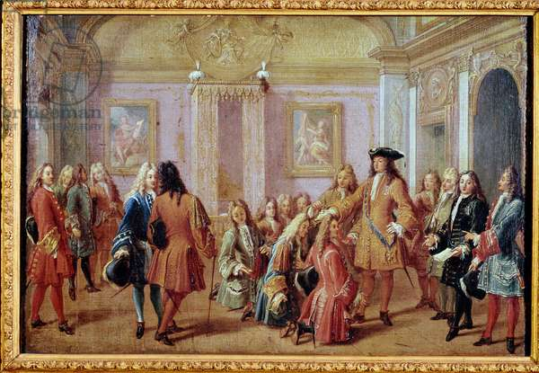 Creation of the Order of Saint Louis by king Louis XIV, May 5th 1693 (Painting, 17th century)
