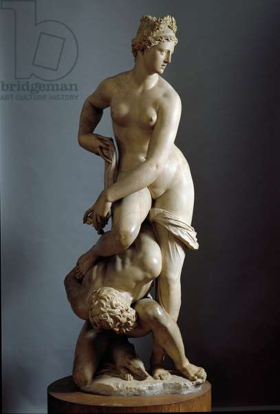 Florence's triumph over Pisa Allegorie. Marble sculpture of Giambologna (Jean de Boulogne, 1529-1608), 1570. Florence, Museo Nazionale del Bargello
