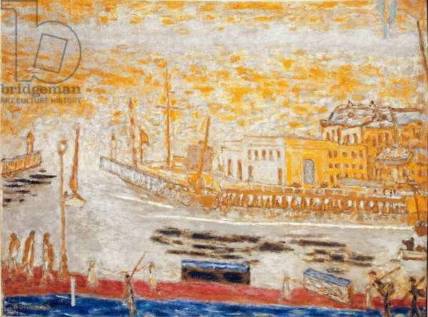 Trouville, la sortie du port Painting by Pierre Bonnard (1867-1947) 1938-1945 Dim. 77x103 cm Paris, national museum of modern art