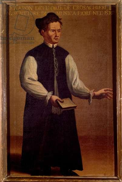 Portrait of Pietro Aaron, Italian music theorist. 16th century (painting)