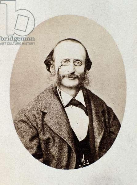 Portrait of Jacques Offenbach (1819-1880) german composer