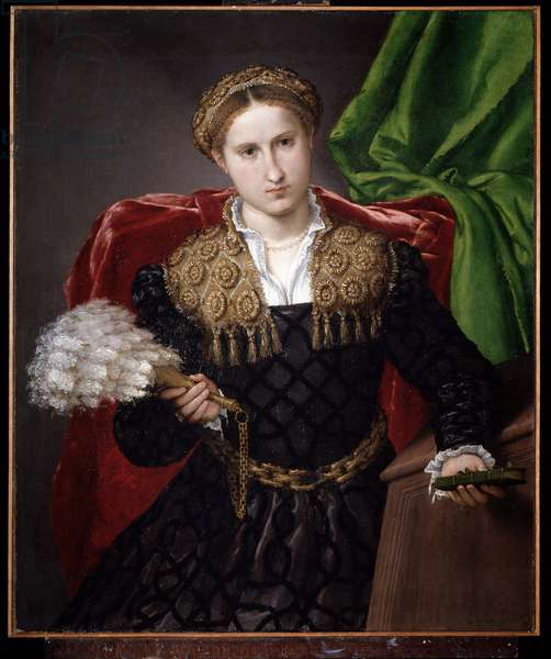 Portrait of Laura da Pola Painting by Lorenzo Lotto (1480-1557) 1543-1544 Dim 90x75 cm Pinacoteca di Brera Milan Italy