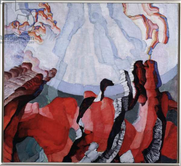 Creation Painting by Frantisek Kupka (1871-1957) 1911-1920 Dim 115x125 cm Prague National Gallery