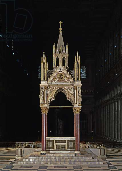 View of the Arnolfo da Cambio's tabernacle, 1285