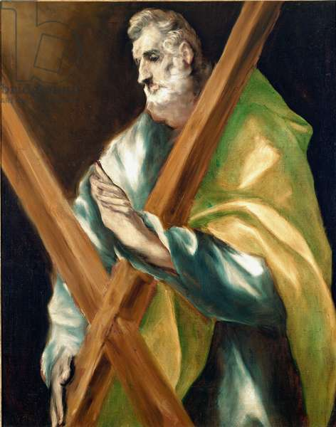Apotre Saint Andre. Painting by Domenikos Theotokopoulos dit El Greco (1540-1614), 1610-1614. Oil on canvas. Dim: 97x77cm. House and Musee El Greco, Toledo, Spain.