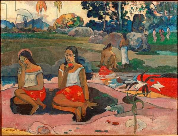 Nave nave moe (The sweet dreams) Painting by Paul Gauguin (1848-1903) 1894 Sun. 73x98 cm Saint Petersburg, Hermitage Museum