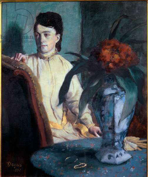 Woman with a Chinese vase, 1872 (oil on canvas)