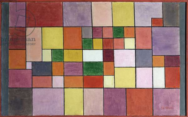 Harmony of the Nordic Flora (Harmonie der nordlichen Flora) Painting by Paul Klee (1879-1940) 1927 Dim 41,5x67 cm Bern, collection Felix Paul Klee