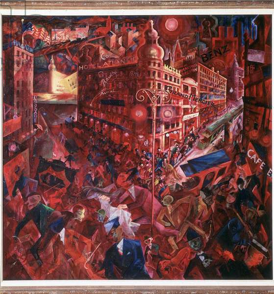 Metropole (Berlin, Germany) Painting by George Grosz (1893-1959) 1916-1917 Madrid, Thyssen-Bornemisza Collection