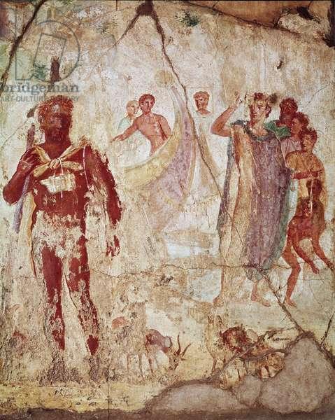 Polyphemus and Aeneas, Pompeii, 1st century BC - 1st century AD (fresco)