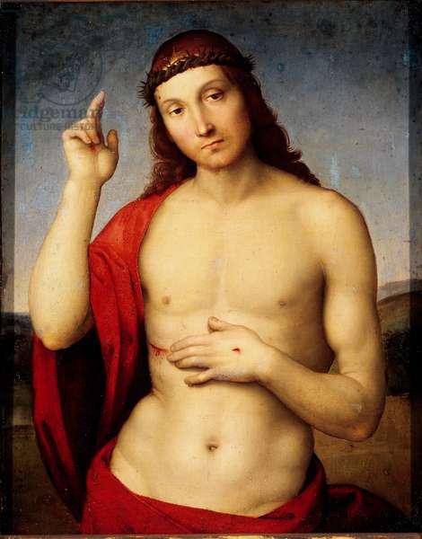 Christ Benching Painting by Raffaello Sanzio dit Raphael (1483-1520) 1506 Sun. 30x25 cm Brescia, Pinacoteca Tosio Martinengo