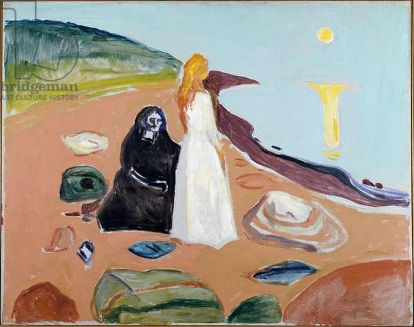 Two Women on the Beach Painting by Edvard Munch (1863-1944) 1935 approx. Dim 93x118 cm Oslo Kommunes Kunstsamlinger