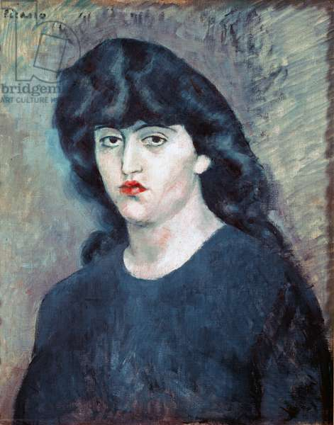 Portrait of Suzanne Bloch, Belgian singer, 1904 (oil on canvas)