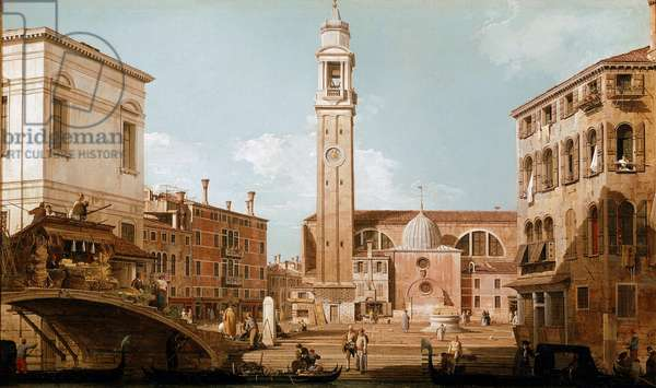 View on the campo dei Santi Apostoli a Cannaregio, Venice (View of campo dei santi apostoli in Venice) Painting by Canaletto (Giovanni Antonio Canal) (1697-1768) 1731-1735 Dim 45x77,5 cm Private collection