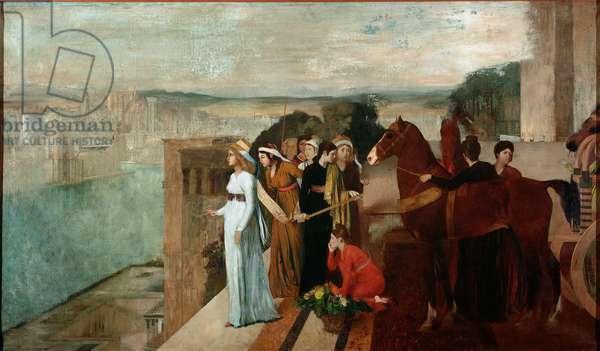 Semiramis Building Babylon (oil on canvas, 1861)