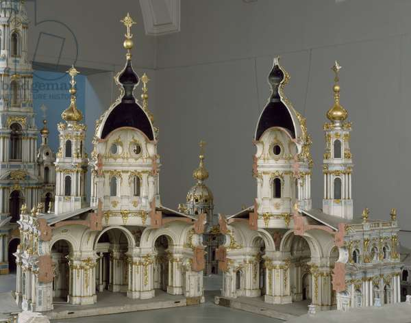 Project for the monastery of the Virgin of the Resurrection (Smolny) in Saint Petersburg, 1750-1756 (Model, painted wood, gilding and lead)