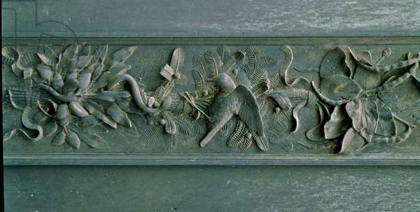 Sculpted frame, detail of the north gate. Low relief bronze, 1403-1424