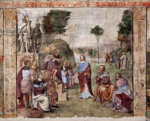 Life of St Cecilia: Trial of St Cecilia (fresco, 1506)