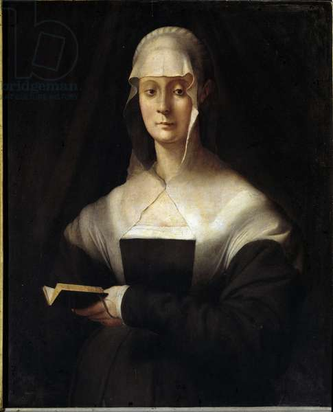 Portrait of Maria Salviati (1499-1543) Painting by Jacopo (Iacopo) Carrucci dit il Pontormo (Pontormo) (1494-1556), 1543. Oil on wood. Dim: 87x71cm. Uffizi Museum, Florence