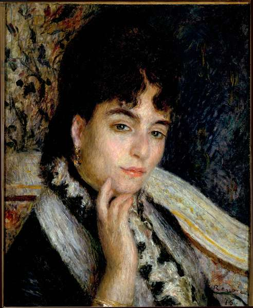 Portrait of Madame Alphonse Daudet (oil on canvas, 1876)