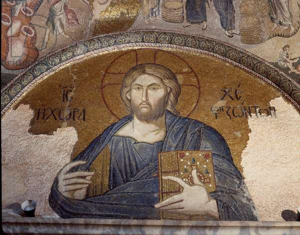 Representation of Christ pantocrator (or Christ in glory) (Mosaic of 1310-1320)