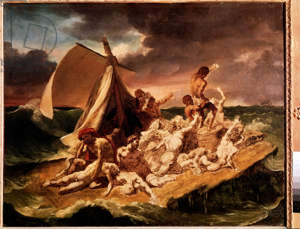 Preparation study for the raft of the Meduse (oil on canvas, 1819)