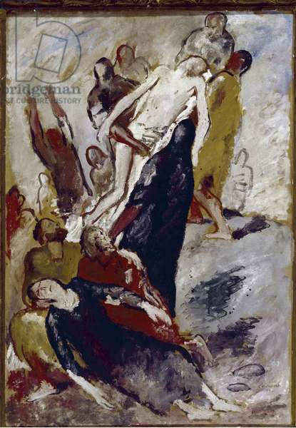 The deposition (The deposition) Painting by Felice Carena (1879-1966) 1933 Florence Galleria d'Arte Moderna