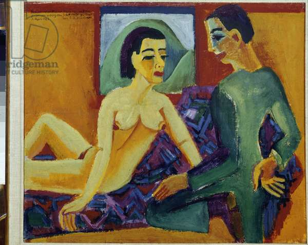 The Couple - Oil on canvas, 1923