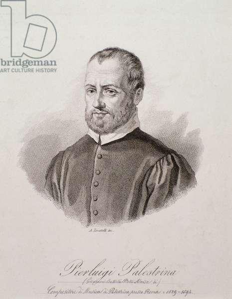 Portrait of Giovanni Pierluigi da Palestrina (engraving, 16th century)