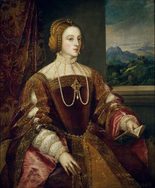 Portrait of the Impress Isabella of Portugal (1503-1539) Painting by Tiziano Vecellio called the Titian (1485-1576) 1548 Sun. 1,17x0,98 m Madrid, Museum of Prado