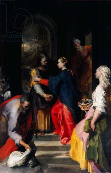 The Visitation Painting by Federico Fiori called Barocci (Baroccio) (1528-1612) said the Baroche 1583-1586 Sun. 200x300 cm Chiesa di Santa Maria in Vallicella Rome