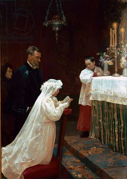 The First Communion, 1896 (oil on canvas)